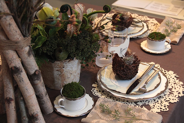 From My Woodland Themed Table Done For The Ceci New York Paper Art Party Last Year This Theme Would Be Great A Daytime Garden Wedding Reception